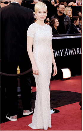 Michelle Williams frisyr Oscars 2011